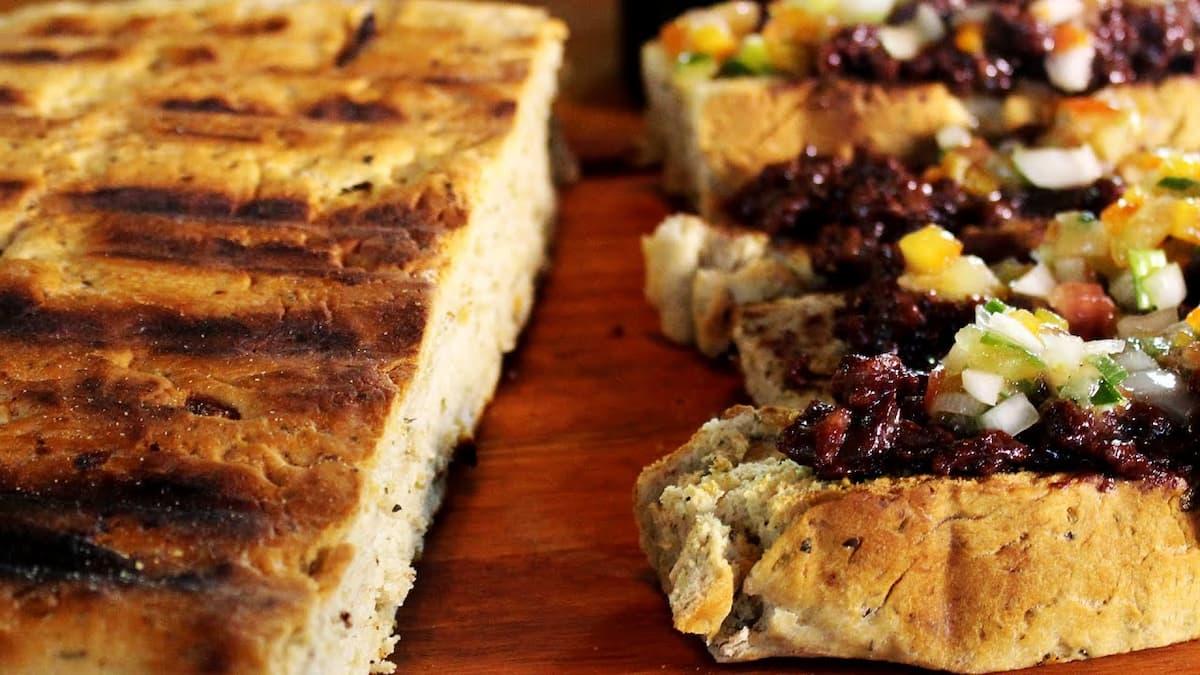 pan casero a la parrilla ingredientes