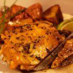 pollo mediterráneo asado con papas